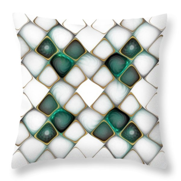 X Marks the Spot Throw Pillow by Amanda Moore