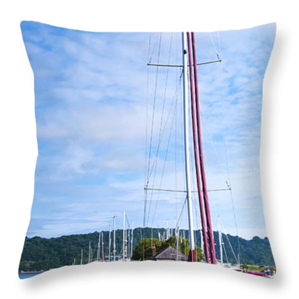 Yacht Throw Pillow by Svetlana Sewell