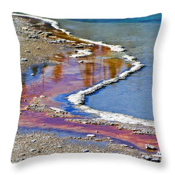Yellowstone Abstract I Throw Pillow by Teresa Zieba