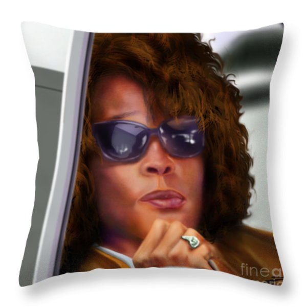 Yes My Name Is Ms Houston Throw Pillow by Reggie Duffie