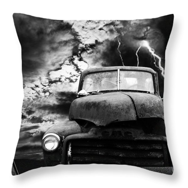 Yesterday Came Early . Tomorrow Is Almost Over . Bw Throw Pillow by Wingsdomain Art and Photography