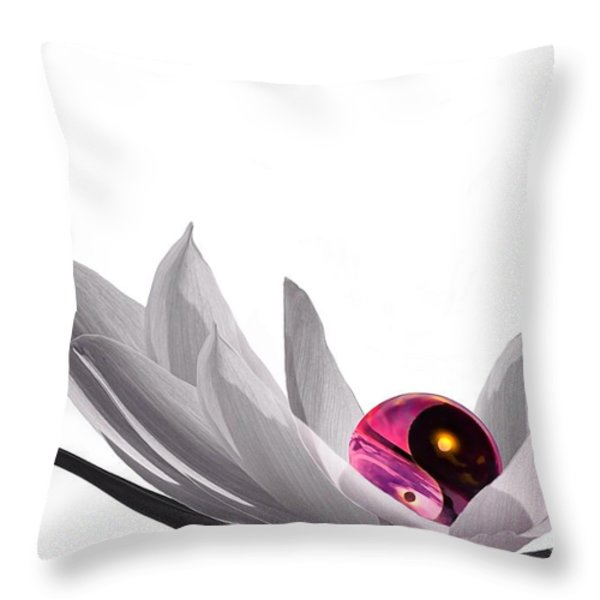 Yin Yang Throw Pillow by Photodream Art