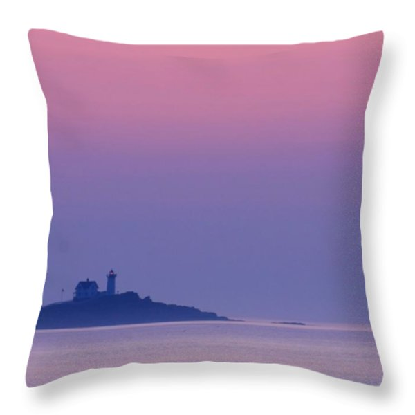 York Harbor at Dawn Throw Pillow by Lori Deiter
