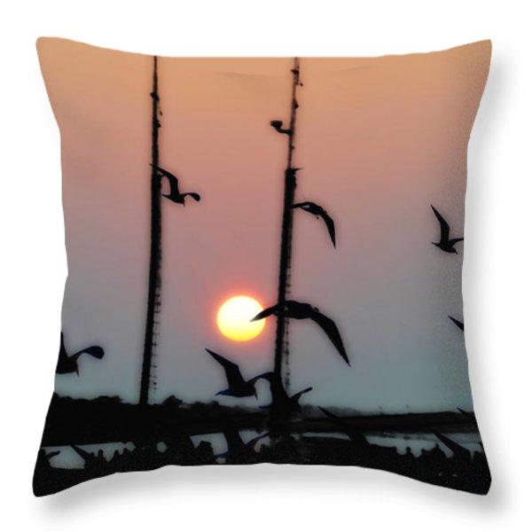 Yorktown Virginia Throw Pillow by Bill Cannon