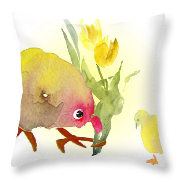 You Are The Cutest Thing Ever Throw Pillow by Miki De Goodaboom