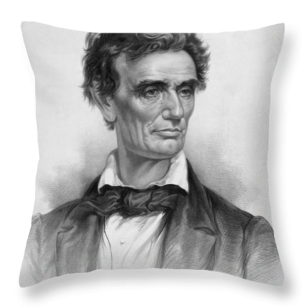Young Abe Lincoln Throw Pillow by War Is Hell Store