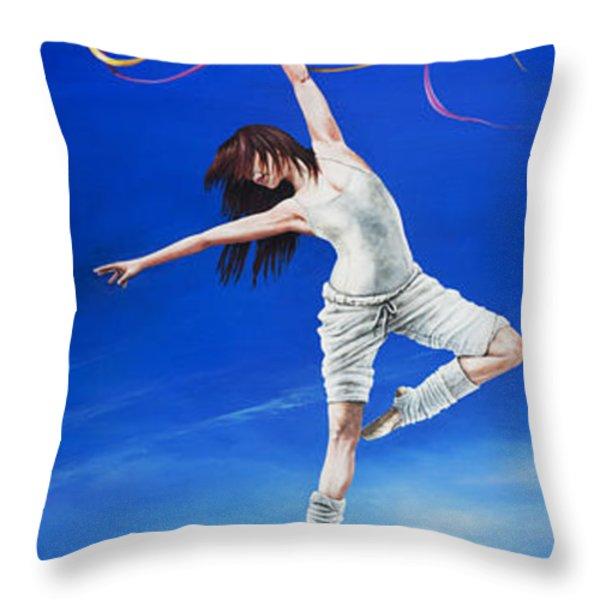 Young Lovers Meet- Girl Throw Pillow by Cindy D Chinn
