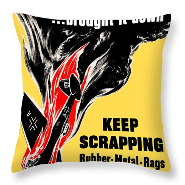 Your Scrap Brought It Down  Throw Pillow by War Is Hell Store