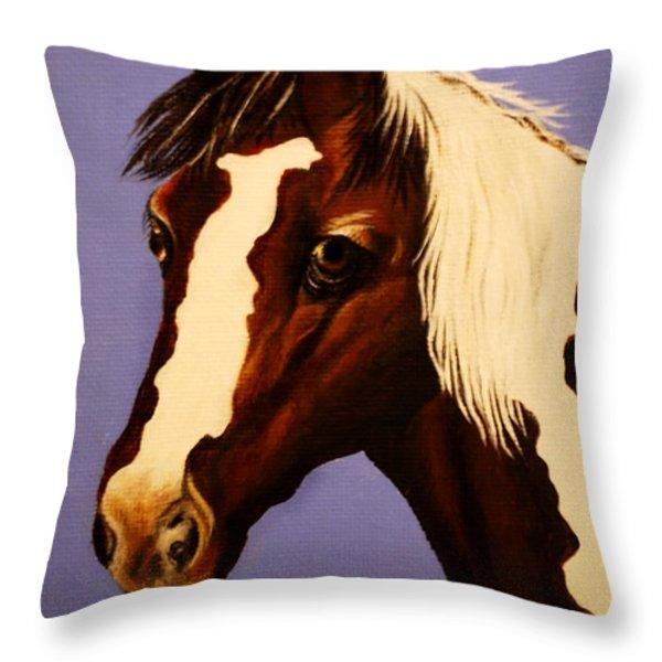 Zachariah Throw Pillow by Adele Moscaritolo