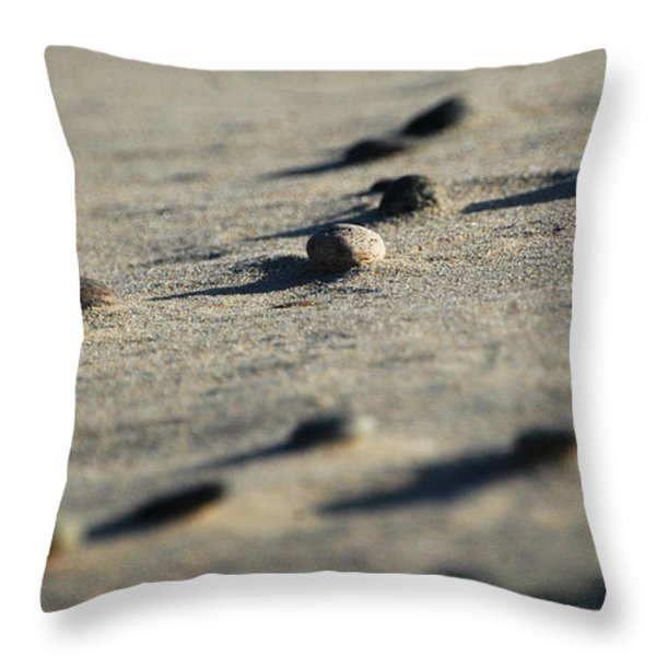 Zen Rocks Abstract Throw Pillow by AdSpice Studios