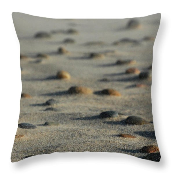 Zen Rocks Throw Pillow by AdSpice Studios