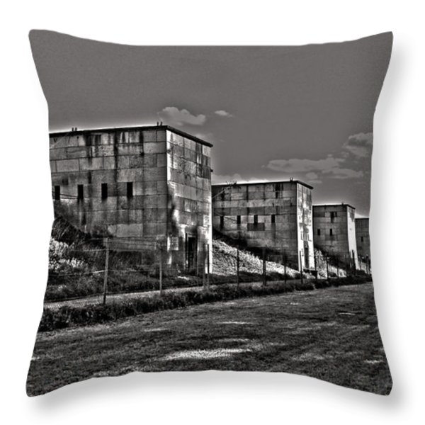 Zeppelin Field - Nuremberg Throw Pillow by Juergen Weiss