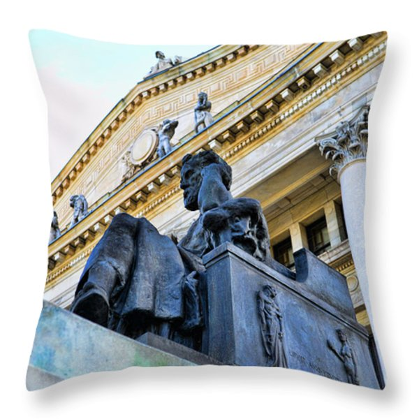 Zeus  Throw Pillow by Paul Ward
