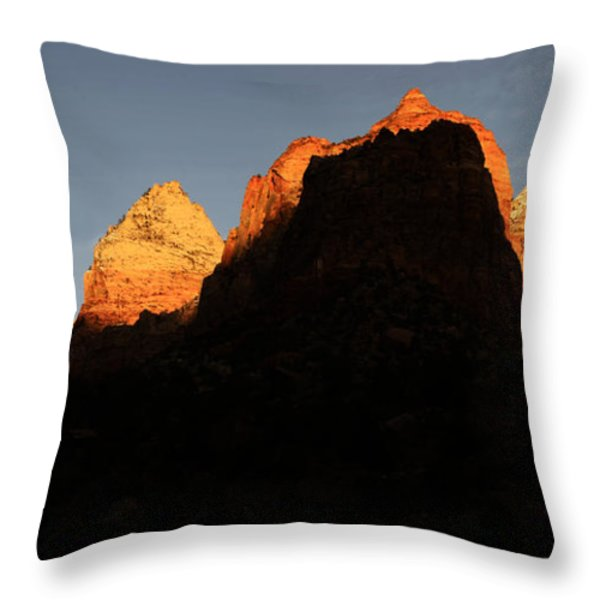 Zion The Great Wall Throw Pillow by Bob Christopher