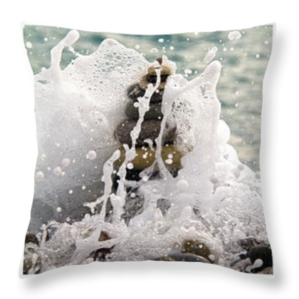 balance and energy Throw Pillow by Stylianos Kleanthous