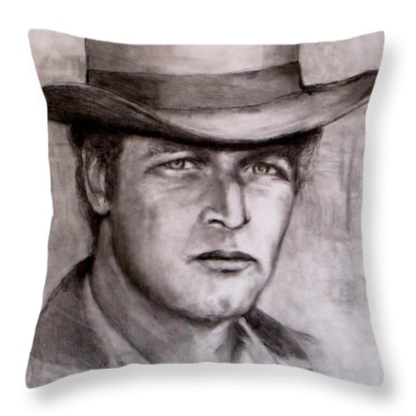 Butch Cassidy Throw Pillow by Jack Skinner