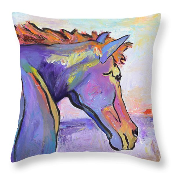 Frosty Morning Throw Pillow by Pat Saunders-White