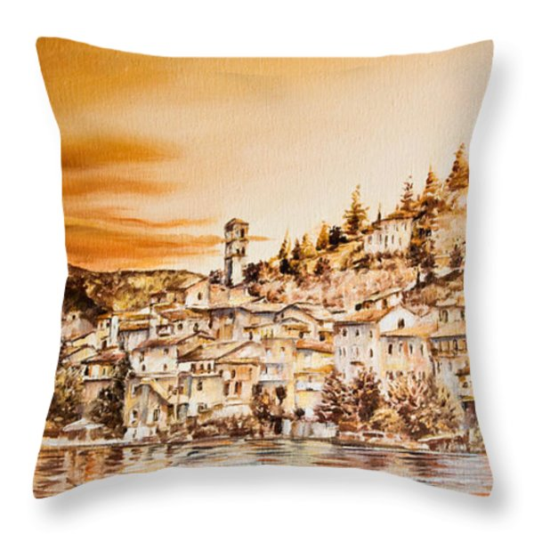 Golden Reflections Throw Pillow by Michel Angelo Rossi