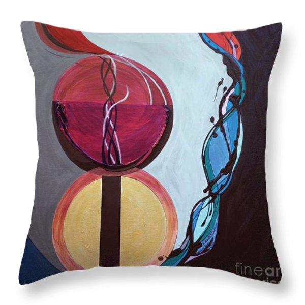 Havdallah...separation Throw Pillow by Marlene Burns