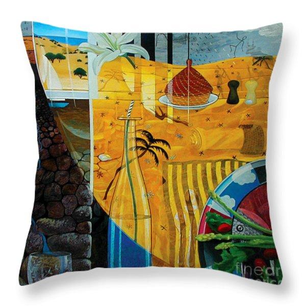 Kaleidoscope Throw Pillow by Yisehak Fikre-Sellassie
