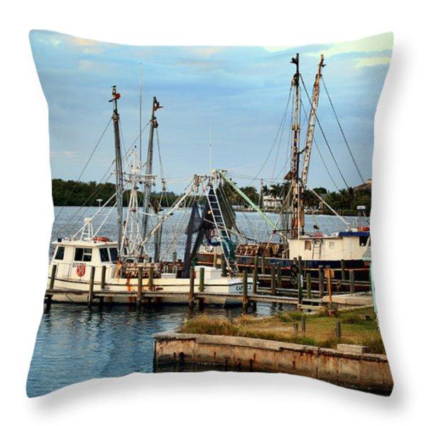Matlacha Florida Throw Pillow by Joseph G Holland