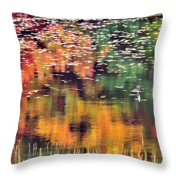 New England Reflections Throw Pillow by Betty LaRue