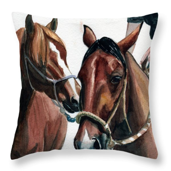 Overlapping Throw Pillow by Linda L Martin