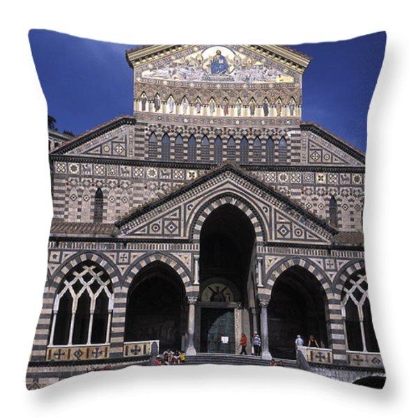 Saint Andrea In Amalfi, Italy Throw Pillow by Richard Nowitz