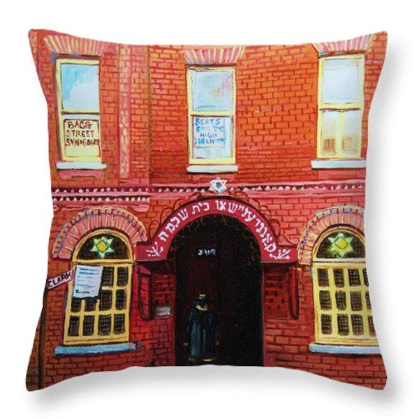 Temple Solomon Congregation Throw Pillow by Carole Spandau