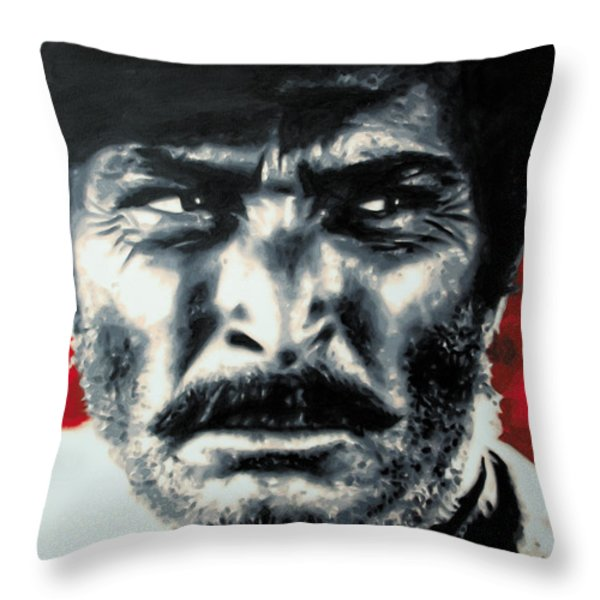 - The Good The Bad and The Ugly - Throw Pillow by Luis Ludzska