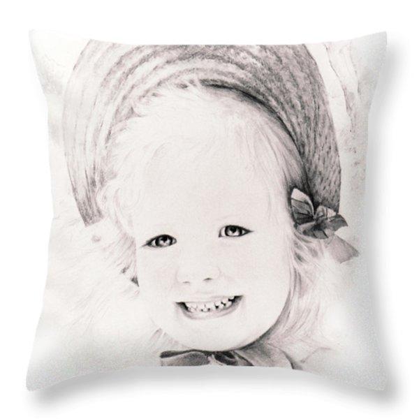 Trudy Throw Pillow by Rachel Christine Nowicki