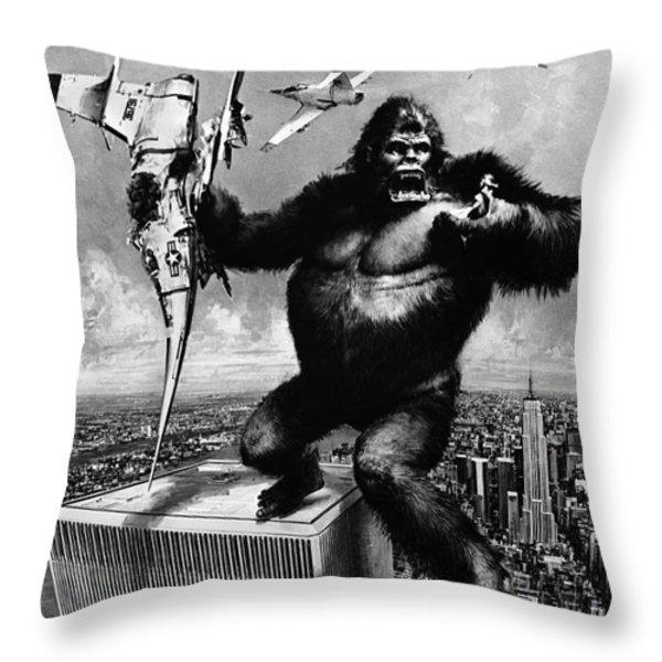 King Kong, 1976 Throw Pillow by Granger