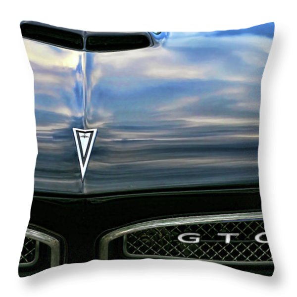 1967 Pontiac GTO Throw Pillow by Gordon Dean II