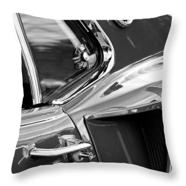 1969 Ford Mustang Mach 1 Side Scoop Throw Pillow by Jill Reger