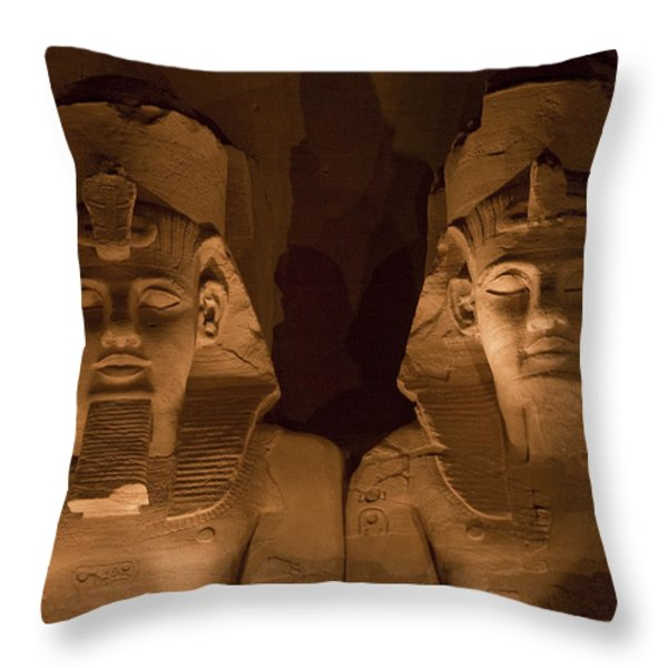 A Close View Of Ramses IIs Temple Throw Pillow by Taylor S. Kennedy