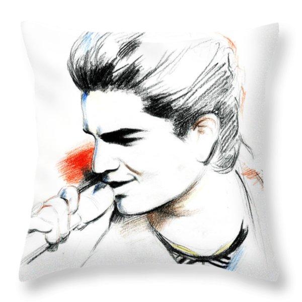 Adam Lambert Throw Pillow by Lin Petershagen