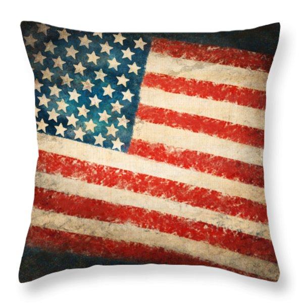 America flag Throw Pillow by Setsiri Silapasuwanchai