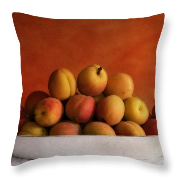apricot delight Throw Pillow by Priska Wettstein