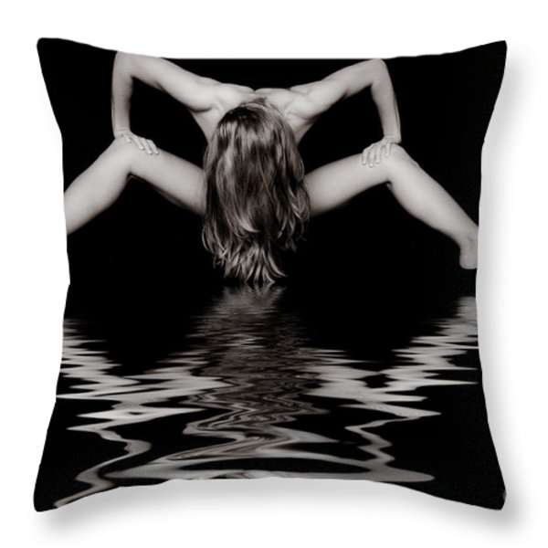 Art Of A Woman Throw Pillow by Jt PhotoDesign