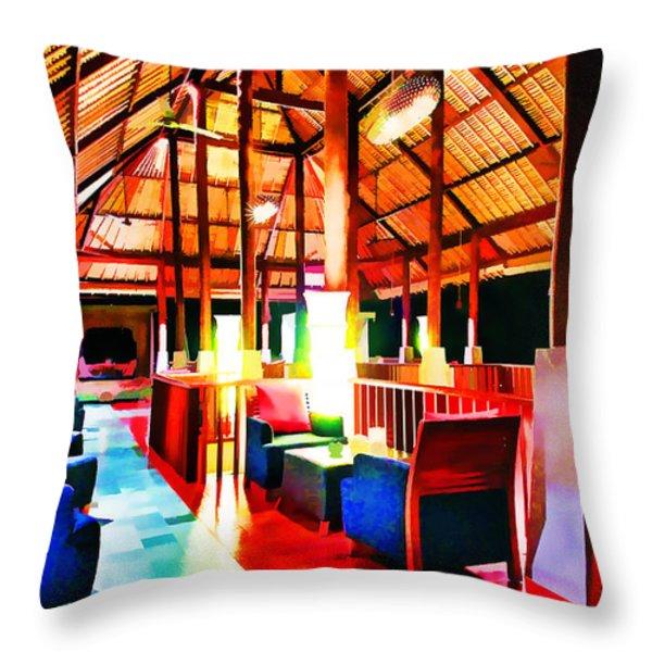 Bar Bedulu Throw Pillow by Lanjee Chee