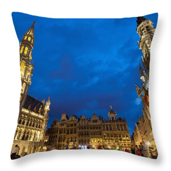 Brussels, Belgium Throw Pillow by Axiom Photographic