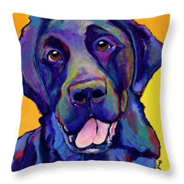 Buddy Throw Pillow by Pat Saunders-White