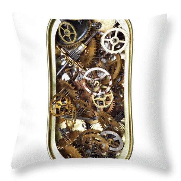 Canned Time Throw Pillow by Michal Boubin