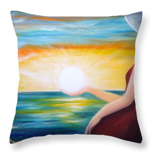 Throw Pillows - Carpe Diem Throw Pillow by Gina De Gorna