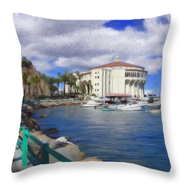 Casino Runner Throw Pillow by Snake Jagger
