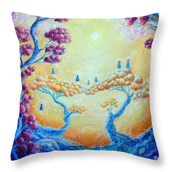 Children of Light Throw Pillow by Ashleigh Dyan Bayer