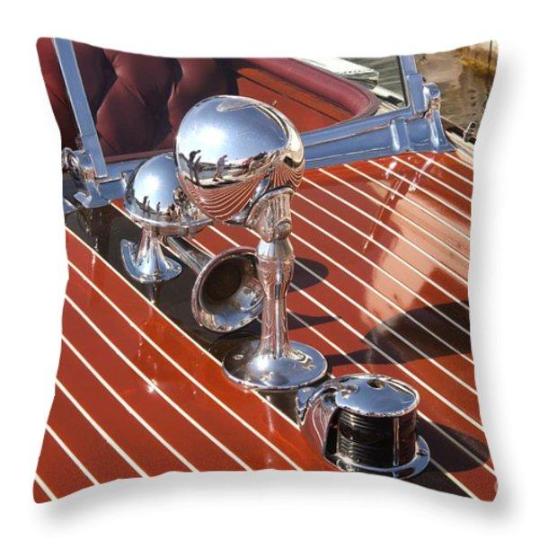 Chris Craft Custom Throw Pillow by Neil Zimmerman