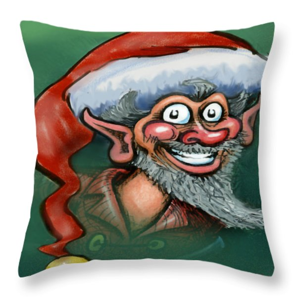 Christmas Elf Throw Pillow by Kevin Middleton