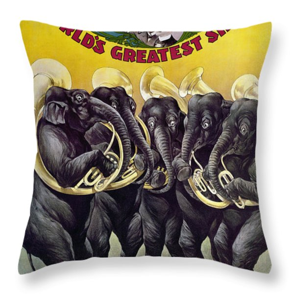 Circus Poster, C1899 Throw Pillow by Granger