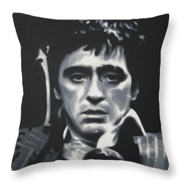 Cocaine 2013 Throw Pillow by Luis Ludzska